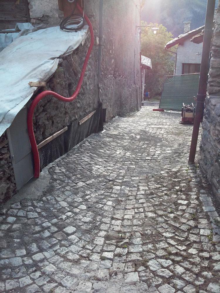 sampietrini - lavoro di pavimentazione