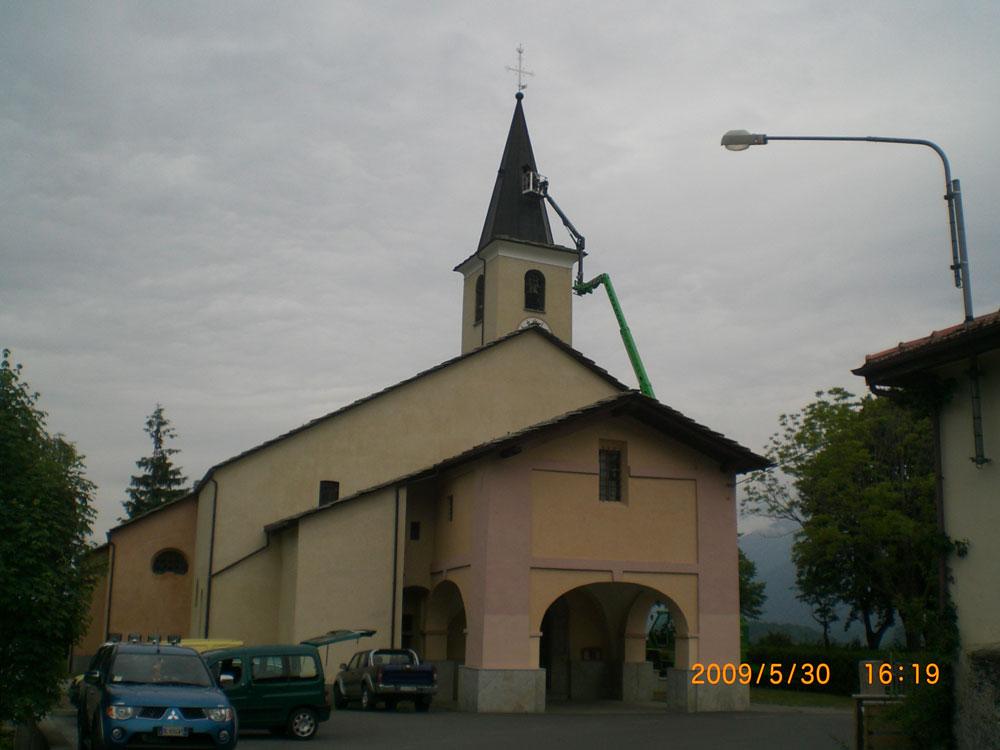 chiesa giaglione - manutenzione mamilo