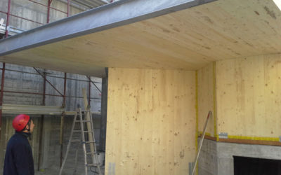 Montaggio struttura abitazione civile in legno – XLAM Aosta