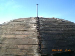 copertura prima del restauro