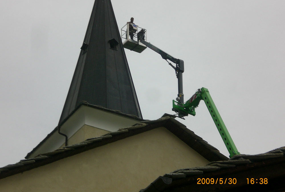 Manutenzione copertura campanile – Giaglione