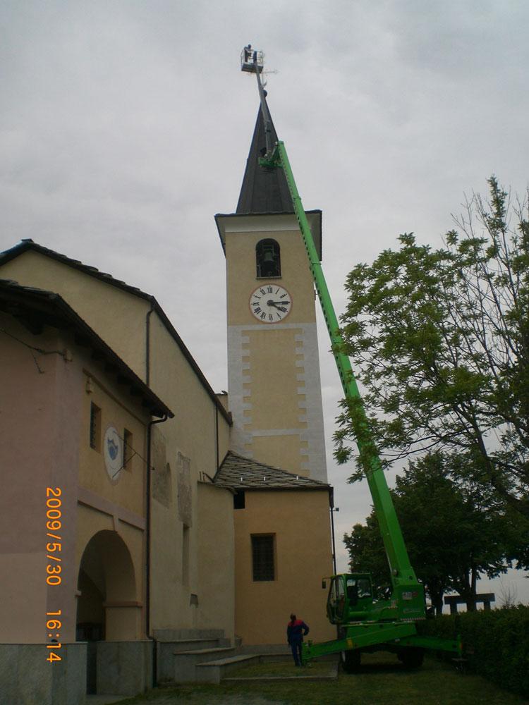 manutenzione copertura campanile