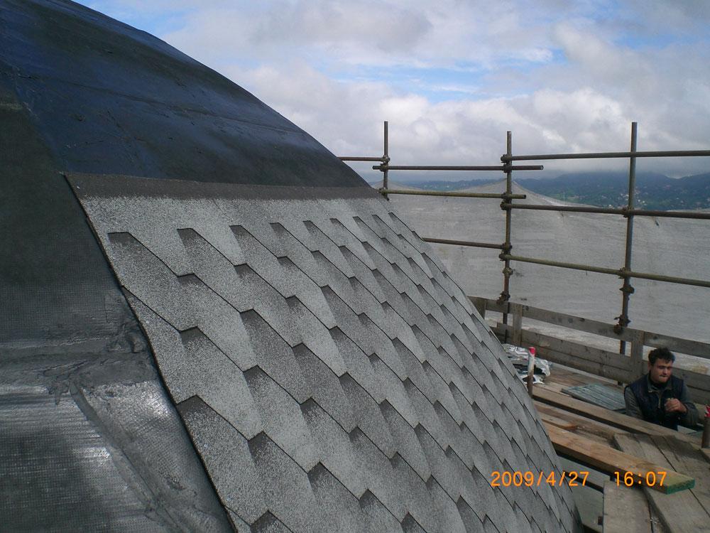 ristrutturazione copertura torre auchan - torino